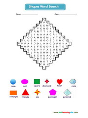 Shapes Wordsearch