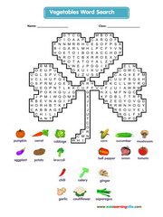 Vegetables Wordsearch
