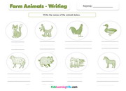 Farm animals writing