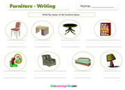 Furniture writing