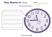 Time quarter to writing