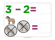 Subtraction of 2 flashcards