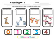 Counting 0 to 4