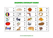 Beginning consonant sounds activity a