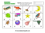 Beginning consonants sounds activityb