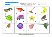Ending consonant sounds activityb